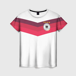 Футболка женская Сборная Германии по футболу цвета 3D — фото 1