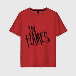 Футболка оверсайз женская In Flames цвета красный — фото 1