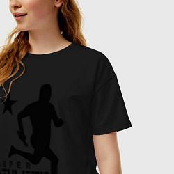Футболка оверсайз женская Лёгкая атлетика цвета черный — фото 2
