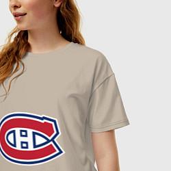 Футболка оверсайз женская Montreal Canadiens цвета миндальный — фото 2