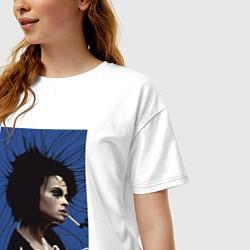 Футболка оверсайз женская Marla Singer цвета белый — фото 2