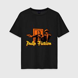 Футболка оверсайз женская Pulp Fiction цвета черный — фото 1