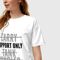 Футболка оверсайз женская Support only цвета белый — фото 2