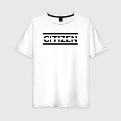 Футболка оверсайз женская Muse: Citizen Erased цвета белый — фото 1