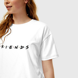 Футболка оверсайз женская Logo Friends цвета белый — фото 2