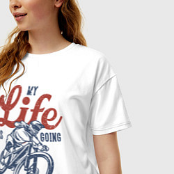 Футболка оверсайз женская My Life is Going Downhill цвета белый — фото 2