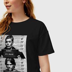 Женская удлиненная футболка с принтом Winchester Brothers, цвет: черный, артикул: 10213038705825 — фото 2