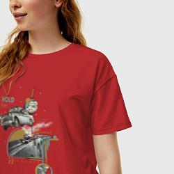 Футболка оверсайз женская Гарри Поттер цвета красный — фото 2