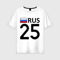 Футболка оверсайз женская RUS 25 цвета белый — фото 1