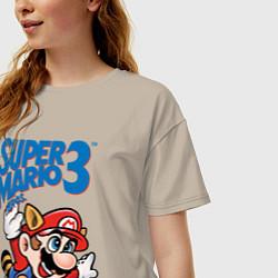 Футболка оверсайз женская Mario 3 цвета миндальный — фото 2