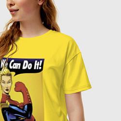 Футболка оверсайз женская Captain Marvel WE CAN DO IT цвета желтый — фото 2
