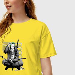 Женская удлиненная футболка с принтом One Piece, цвет: желтый, артикул: 10290252305825 — фото 2