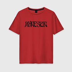 Футболка оверсайз женская Maneskin цвета красный — фото 1