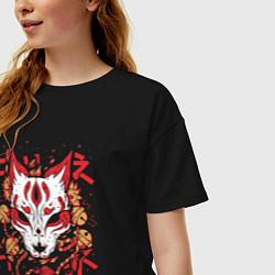 Футболка оверсайз женская Fox Hunting цвета черный — фото 2