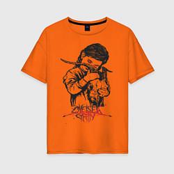 Футболка оверсайз женская Chelsea Grin: Demon Girl цвета оранжевый — фото 1