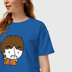 Футболка оверсайз женская George Harrison Boy цвета синий — фото 2