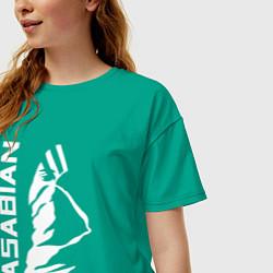 Футболка оверсайз женская Kasabian цвета зеленый — фото 2