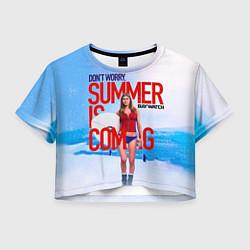 Футболка 3D укороченная женская Summer is coming цвета 3D — фото 1