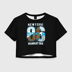 Футболка 3D укороченная женская New York: Manhattan 86 цвета 3D-принт — фото 1