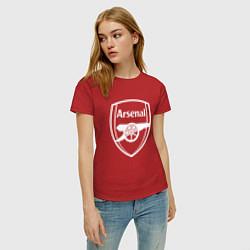 Футболка хлопковая женская FC Arsenal цвета красный — фото 2