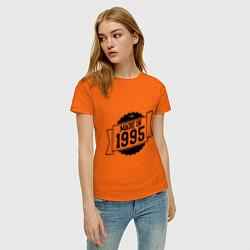 Футболка хлопковая женская Made in 1995 цвета оранжевый — фото 2