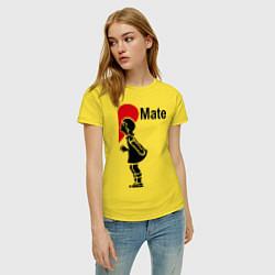 Футболка хлопковая женская Soul Mate: Girl цвета желтый — фото 2