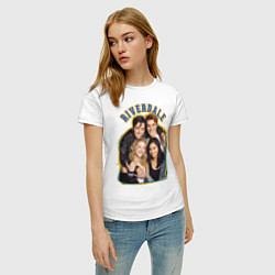 Футболка хлопковая женская Riverdale heroes цвета белый — фото 2