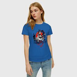 Футболка хлопковая женская The Punisher цвета синий — фото 2