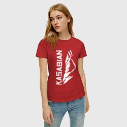 Футболка хлопковая женская Kasabian цвета красный — фото 2